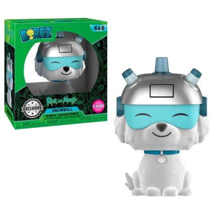FIGURA DORBZ RICK & MORTY: SNOWBALL FLOCKED